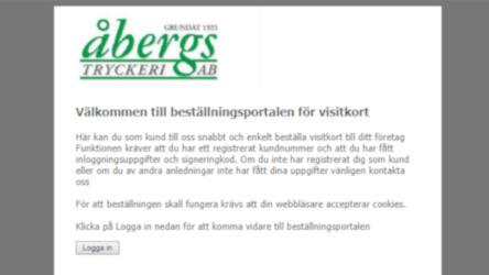 Programutveckling backend – Åbergs Tryck